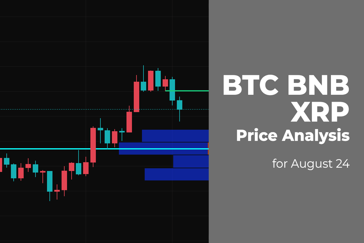BTC, BNB, and XRP Price Analysis for August 24