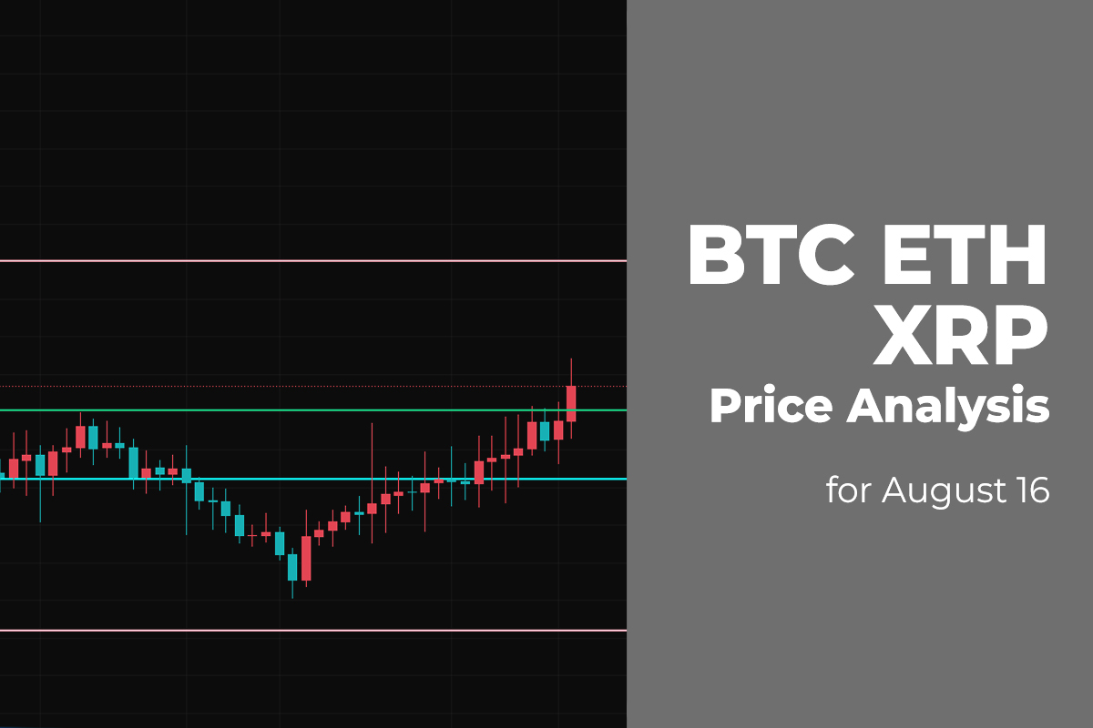BTC, ETH, and XRP Price Analysis for August 16