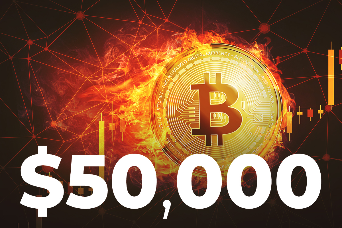 Bitcoin Recaptures $50,000 After Declining for Over Week