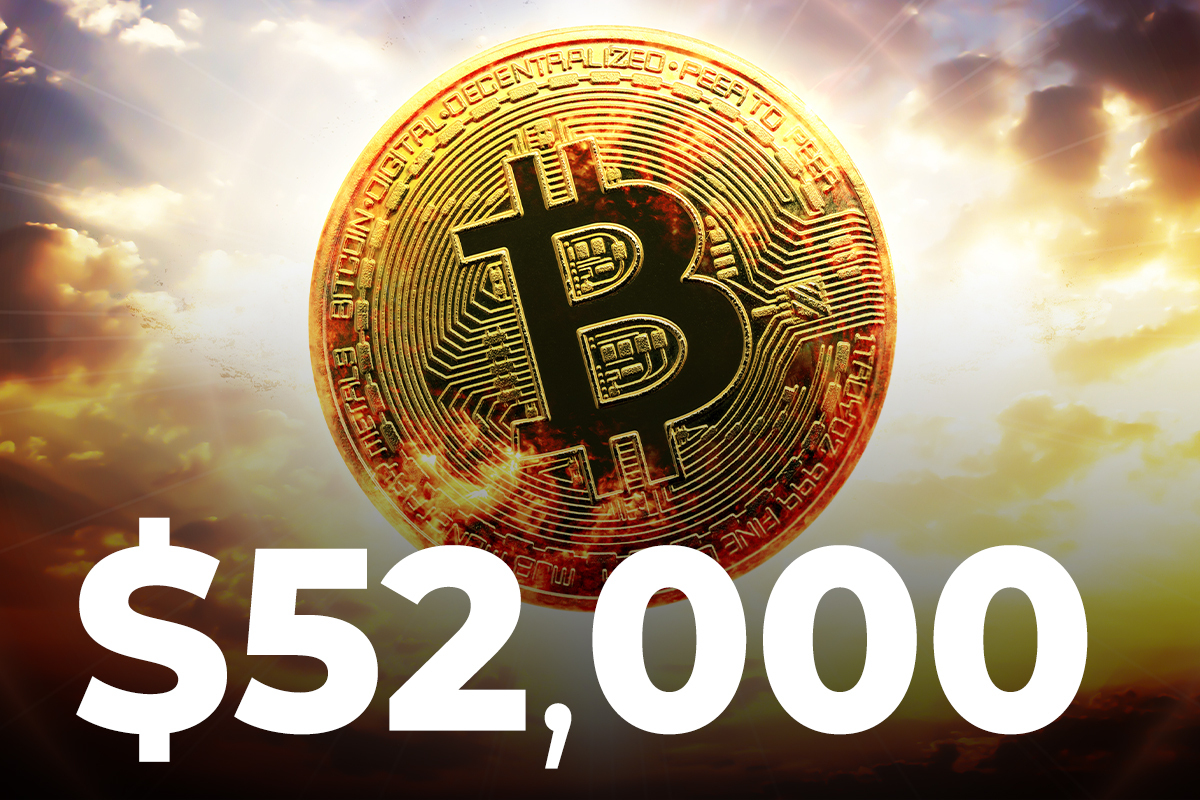 Three Reasons Why Bitcoin Is Rallying Close to $52,000