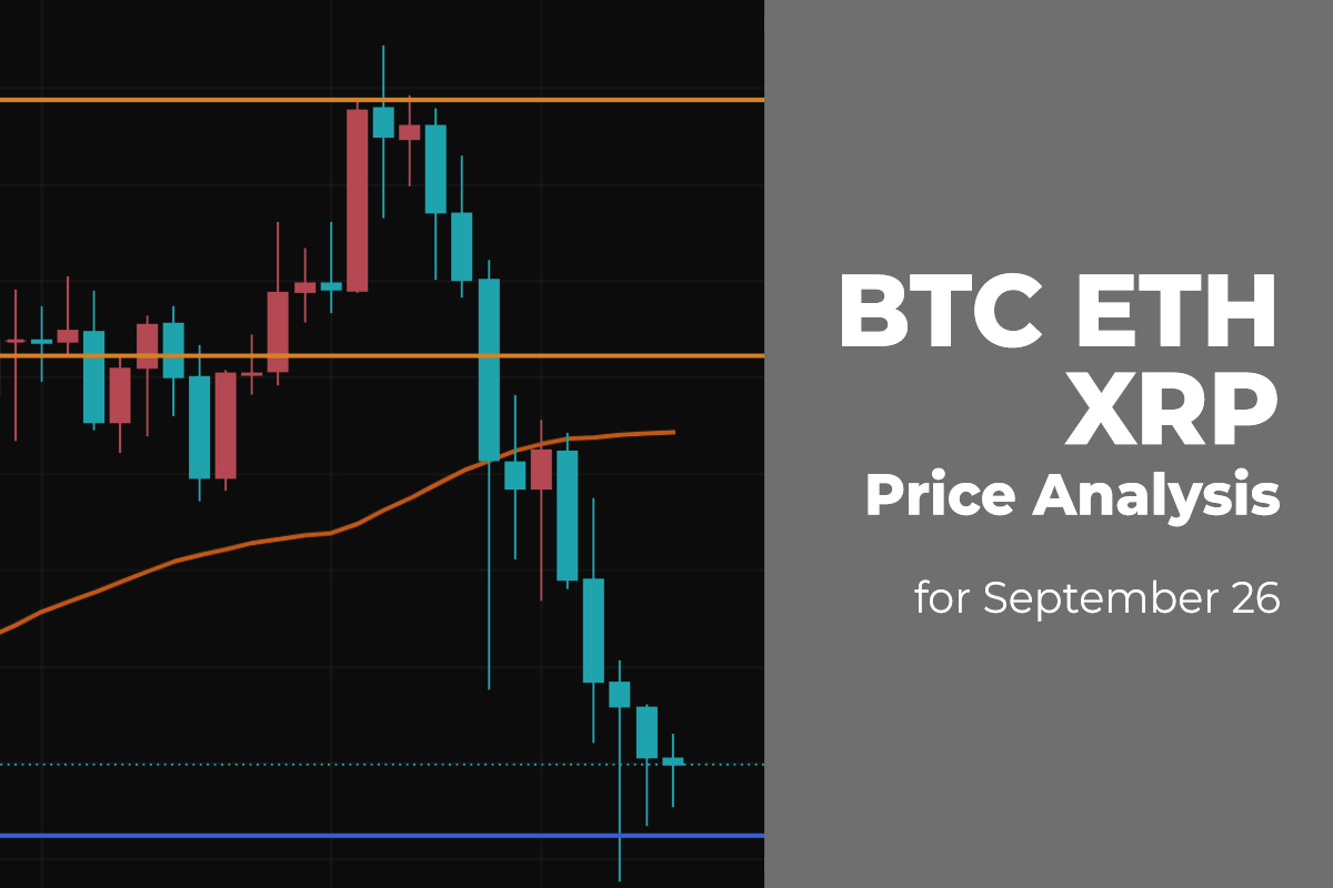 BTC, ETH,and XRP Price Analysis for September 26