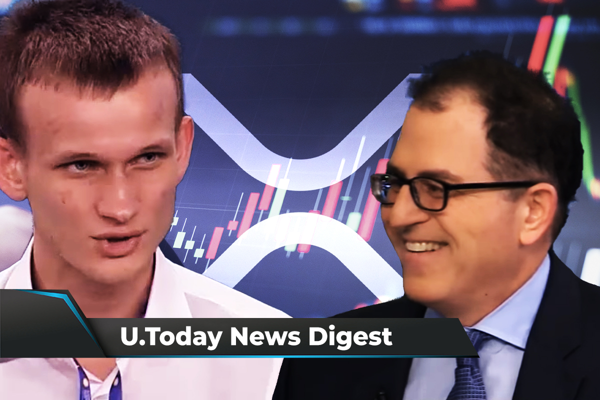 XRP Surges 13%, Michael Dell Passes on Bitcoin, Vitalik Buterin Slams El Salvador's BTC Experiment: Crypto News Digest by U.Today