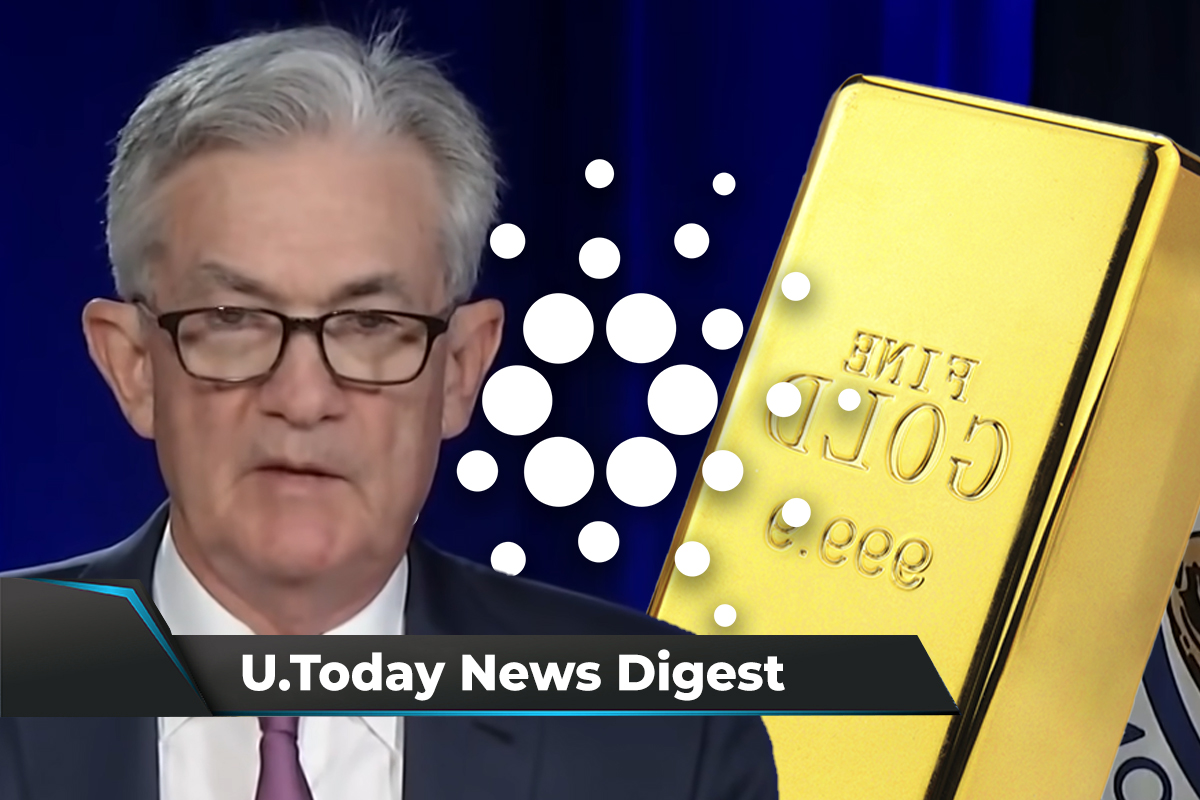 U.S. Fed Has No Plans to Ban Crypto, Gold-Backed Stablecoin to Be Launched on Cardano: Crypto News Digest by U.Today