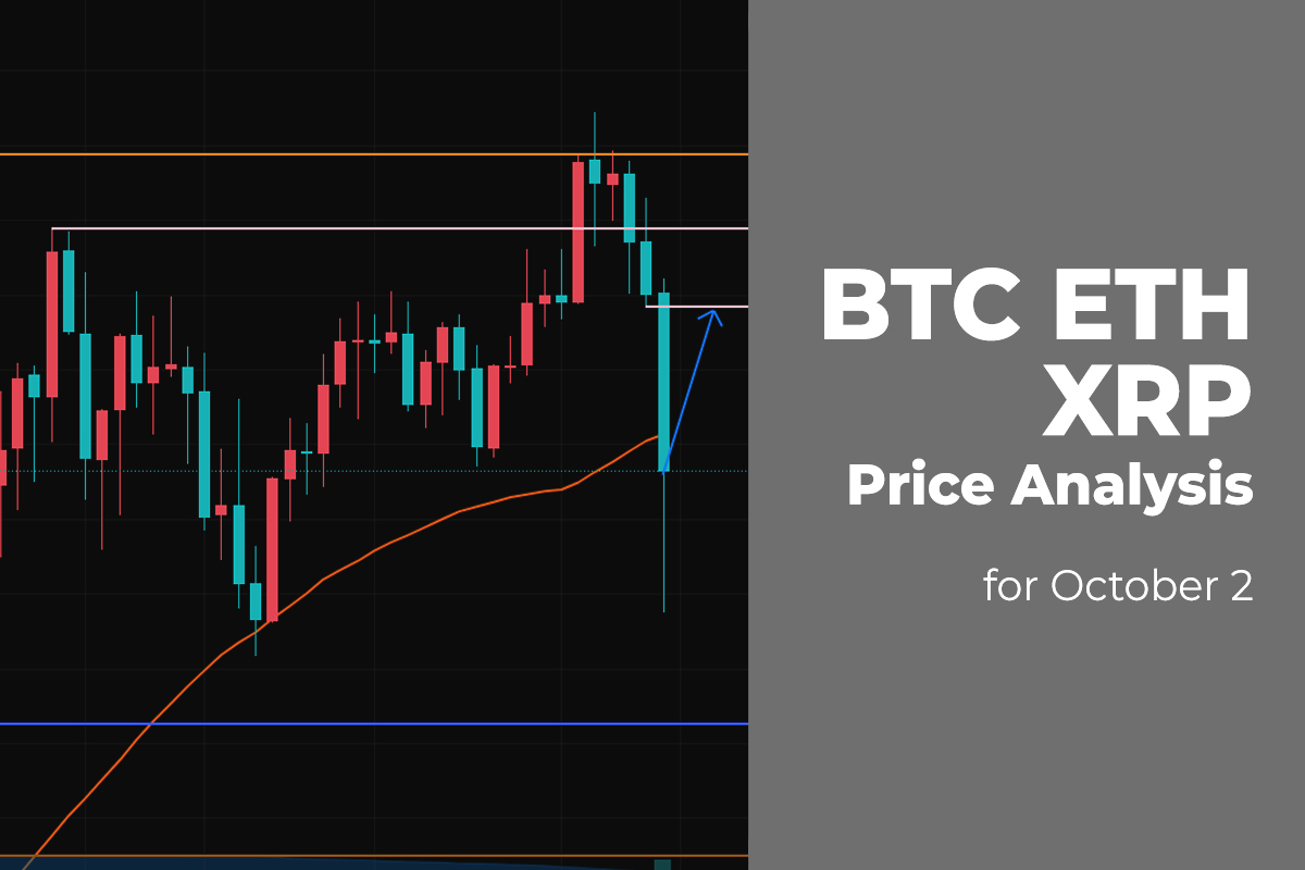 BTC, ETH, and XRP Price Analysis for October 2