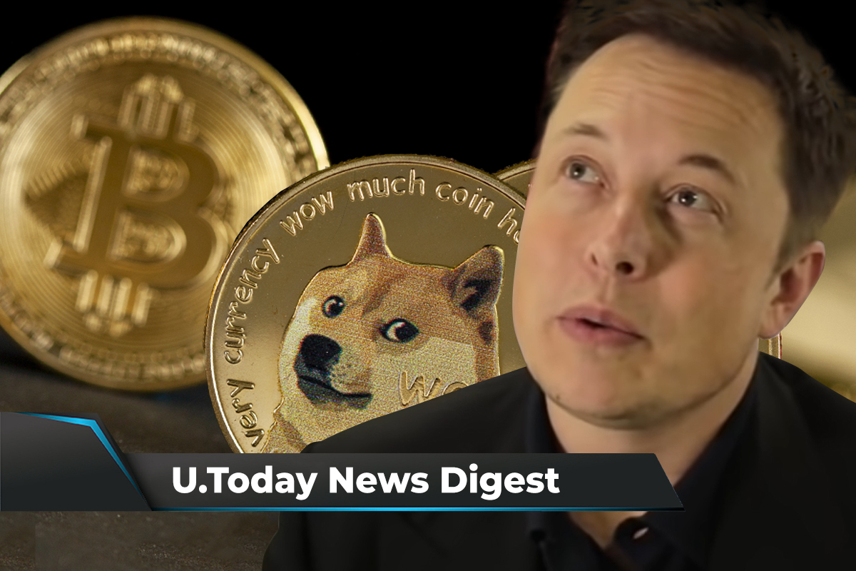 Elon Musk Fails to Boost Prices of Canine Coins, Bitcoin's Hashrate Spikes, Grayscale releases report on Cardano: Crypto News Digest by U.Today
