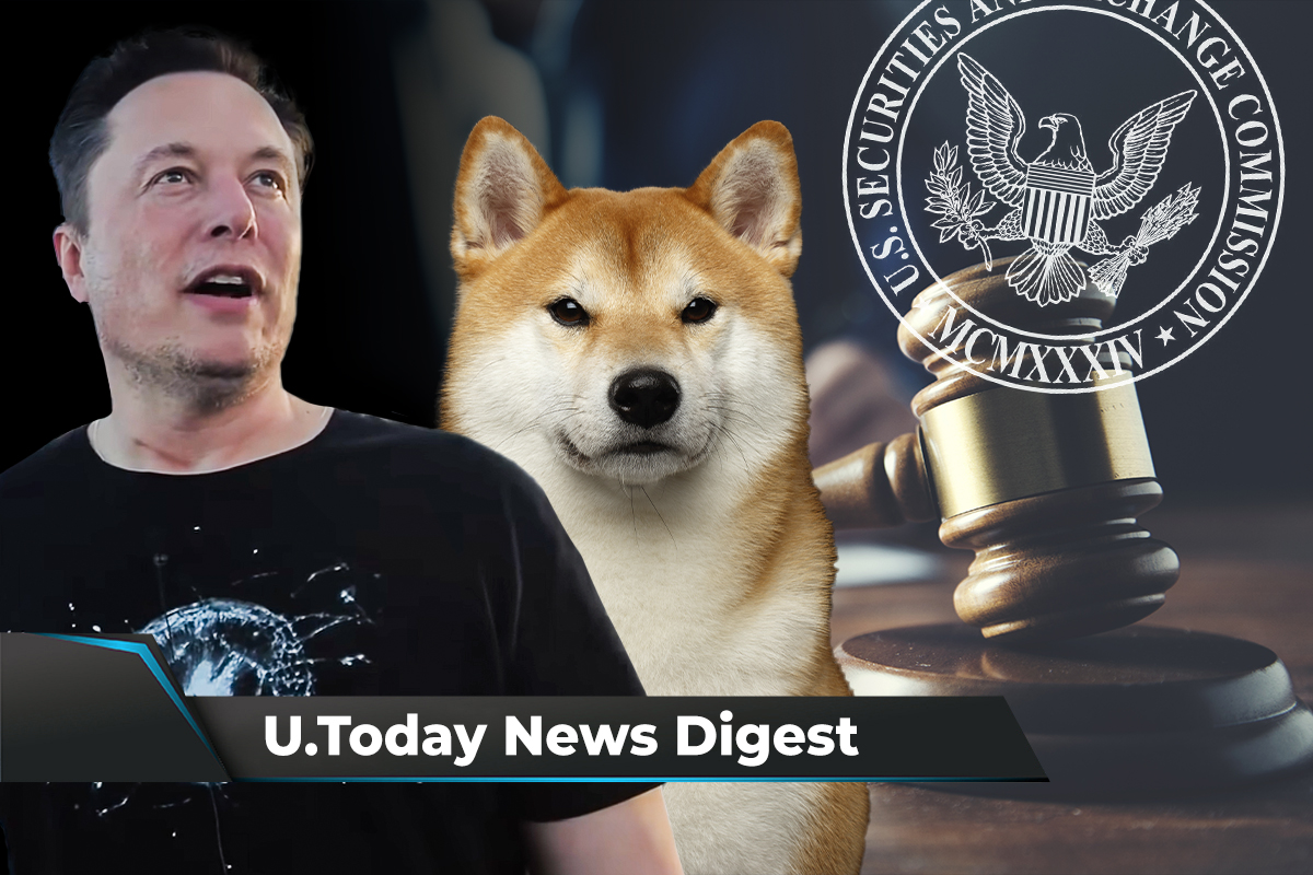 Elon Musk Shiba Inu Photo Sparks over 90,000 tweets, XRP Holders to Help Court: Crypto News Digest by U.Today