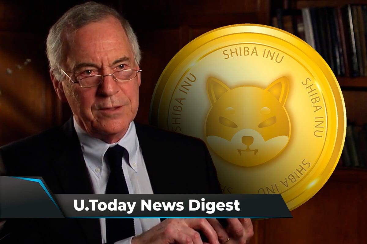 Steve Hanke Predicts Bitcoin Crash, Shiba Inu Breaks into Top 20 Cryptos: Crypto News Digest by U.Today