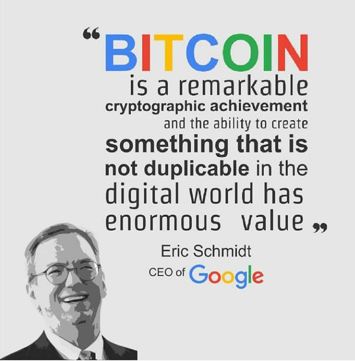 Eric Schmidt's quote about crypto