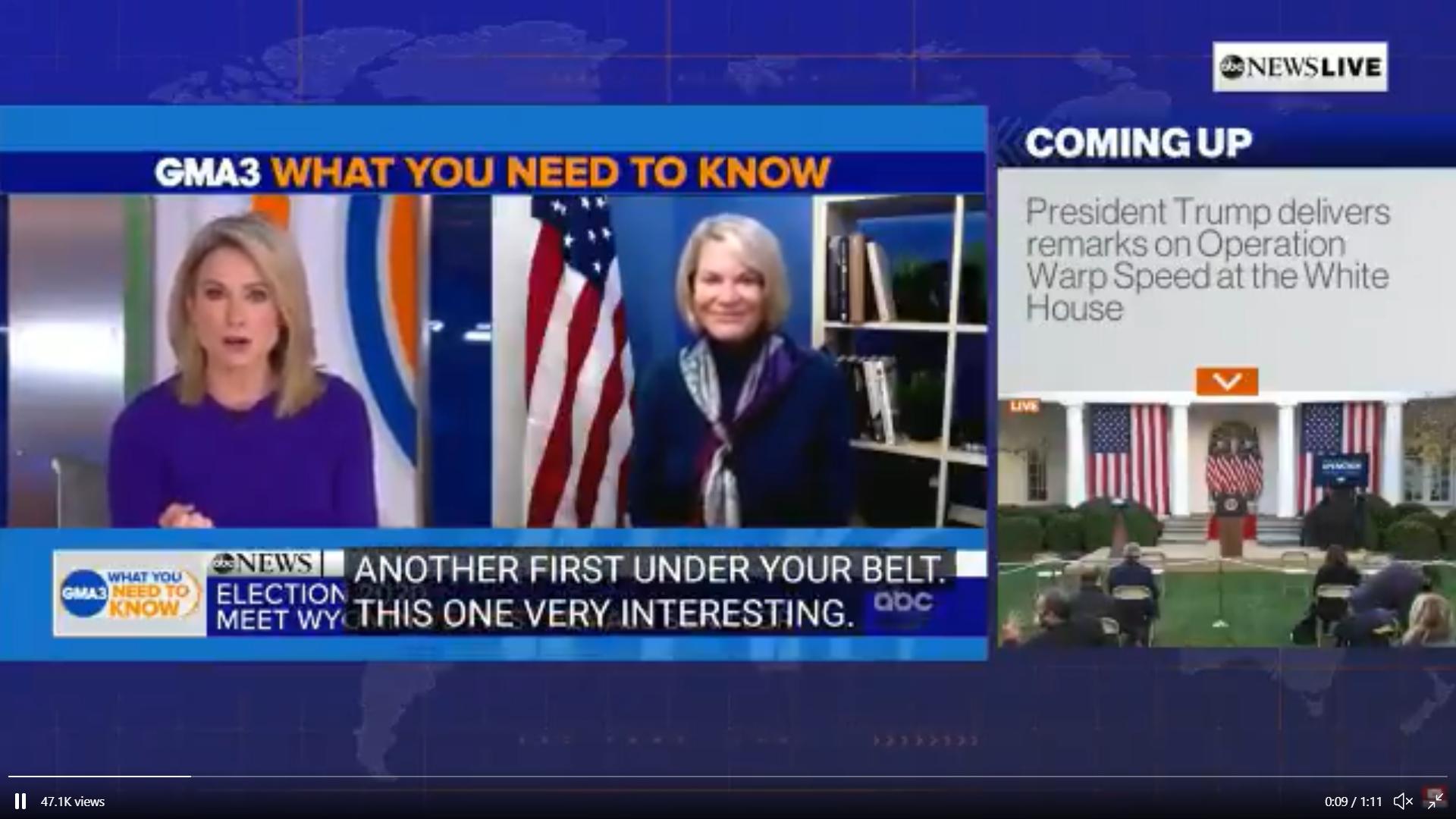 Cynthia Lummis talks Bitcoin on ABC News. Source: ABC News Live, Bitcoinization