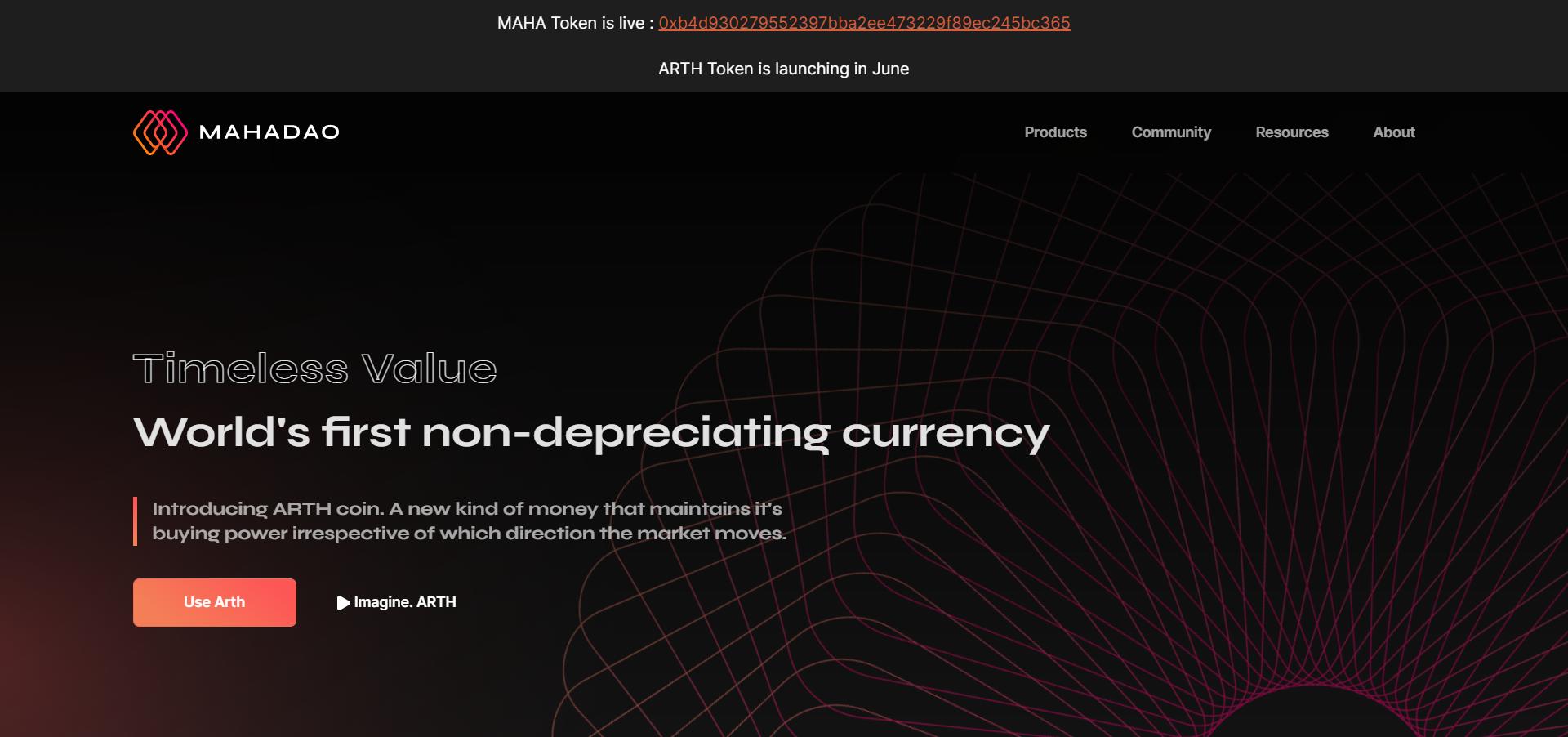 MahaDAO introduces ARTH valuecoin