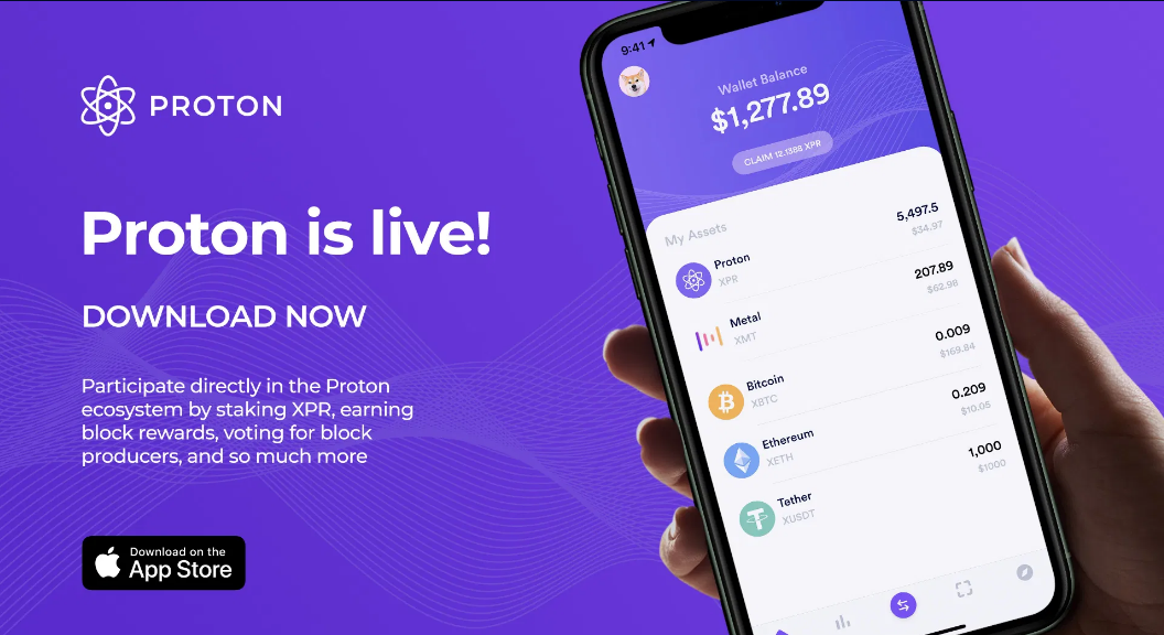 Proton application added by AppStore