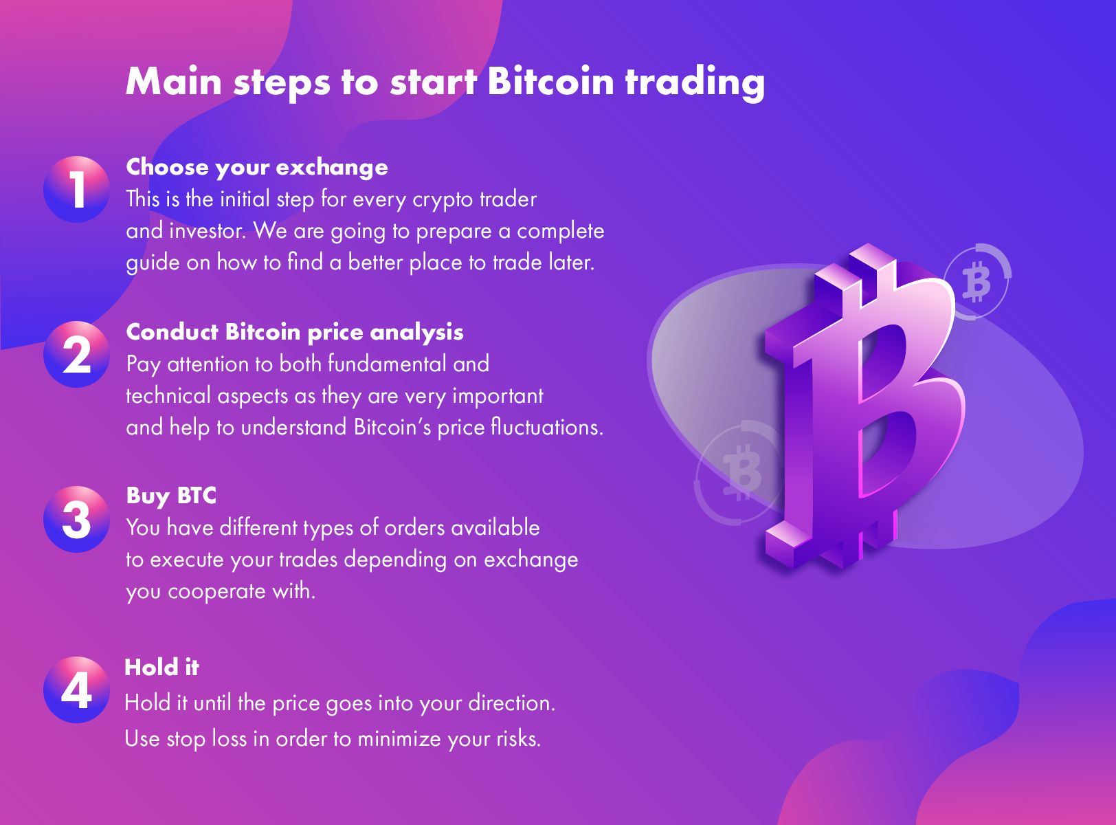 Main steps to start Bitcoin trading