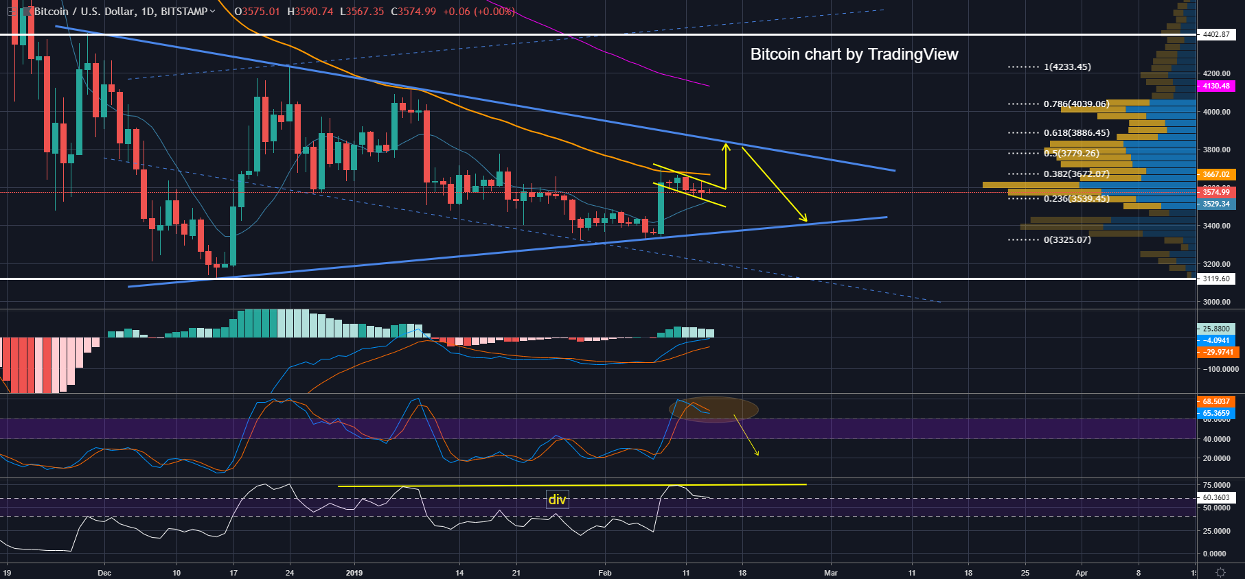 [FEB 14] BTC/USD Bitcoin Price Analysis: Bitcoin Loses in Price on Good News?