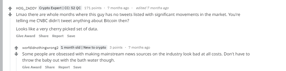 CNBC and crypto