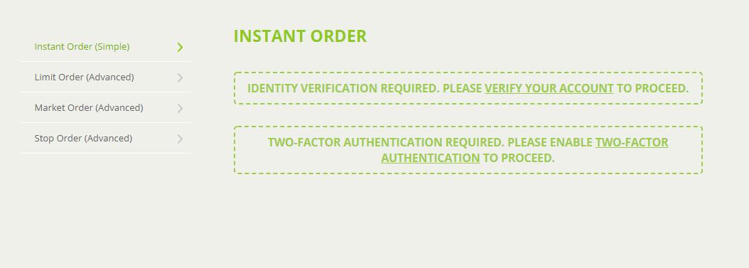 instant order