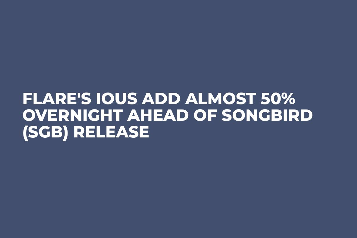 Flare's IOUs Add Almost 50% Overnight Ahead of Songbird (SGB) Release