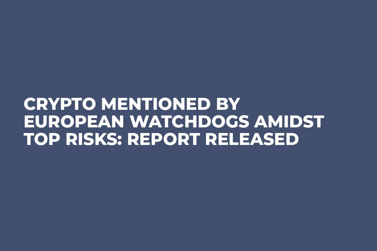 Crypto Mentioned by European Watchdogs Amidst Top Risks: Report Released