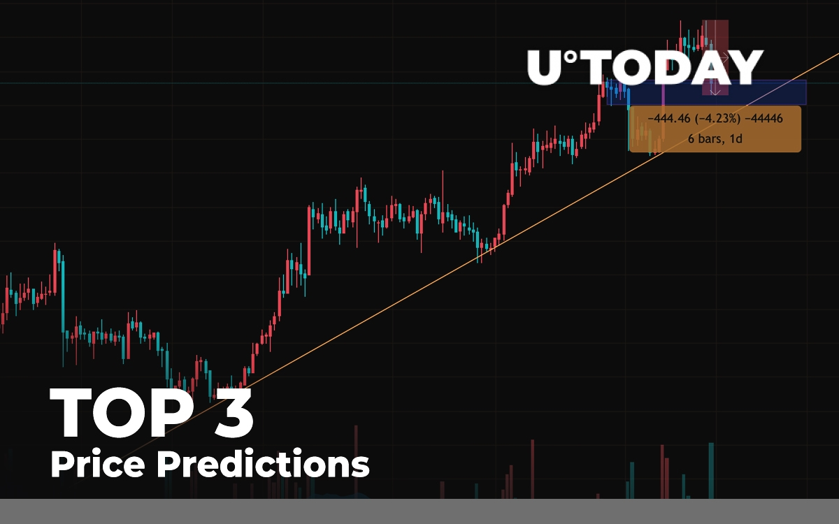 TOP 3 Price Prediction: BTC, ETH, XRP — Slight Correction Before Reaching New Heights