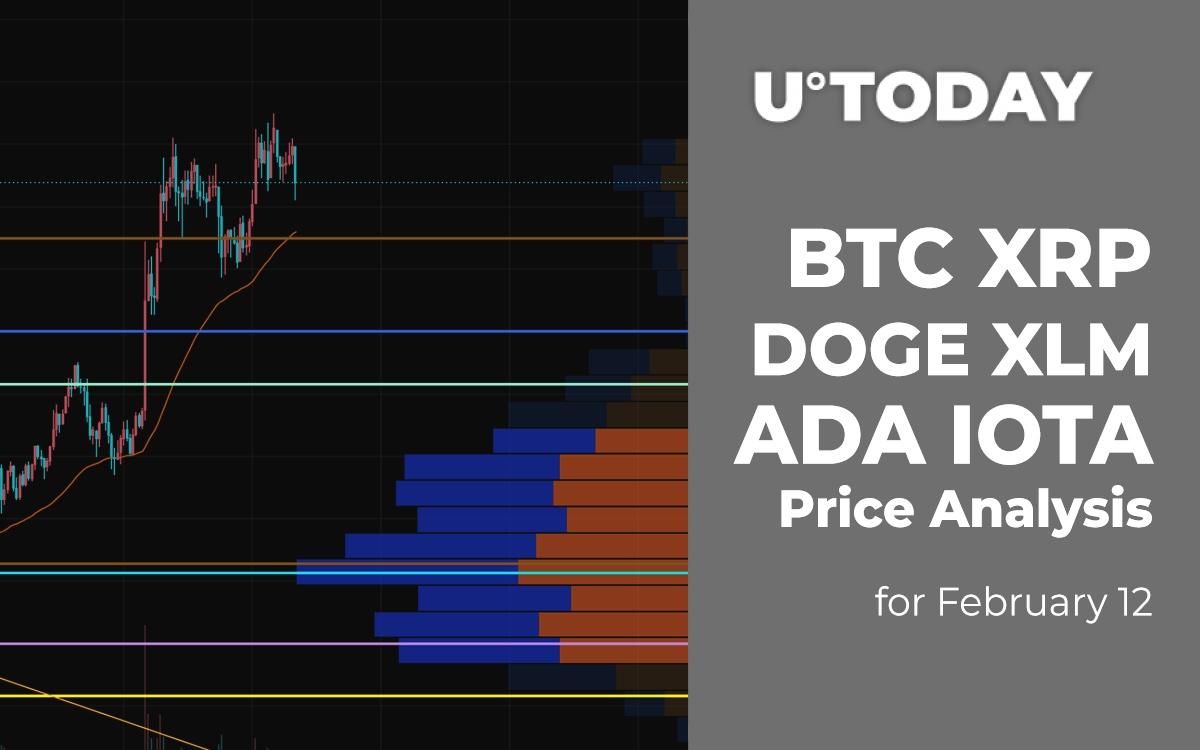 BTC, XRP, DOGE, XLM, ADA and IOTA Price Analysis for February 12