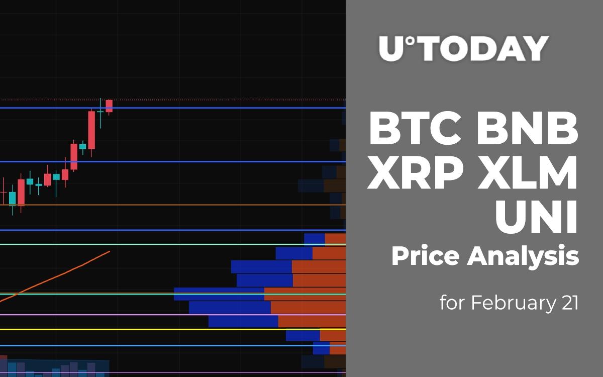 BTC, BNB, XRP, XLM and UNI Price Analysis for February 21