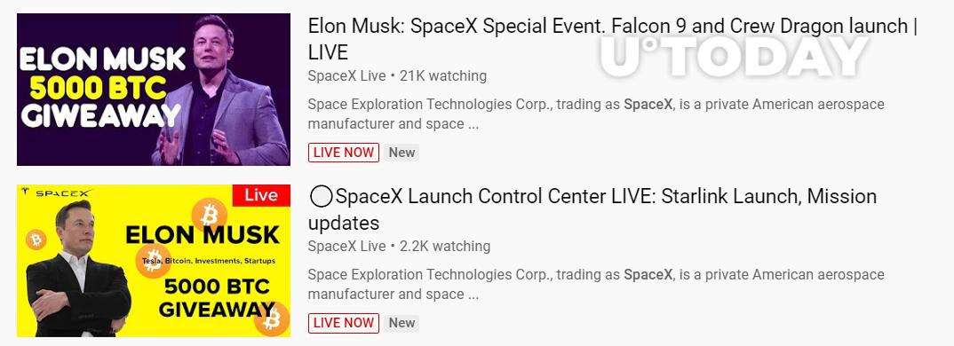 Aproveitando-se do halving e o lançamento da Falcon 9 da SpaceX com a NASA, golpistas reviveram essa antiga e conhecida fraude. Assim como nos golpes antigos, imagens de pessoas famosas estão sendo utilizadas.