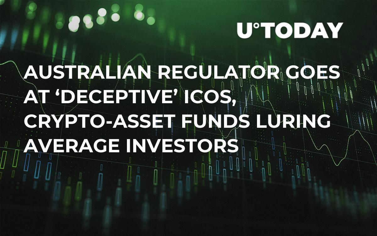 Australian Regulator Goes at 'Deceptive' ICOs, Crypto-Asset Funds Luring Average Investors