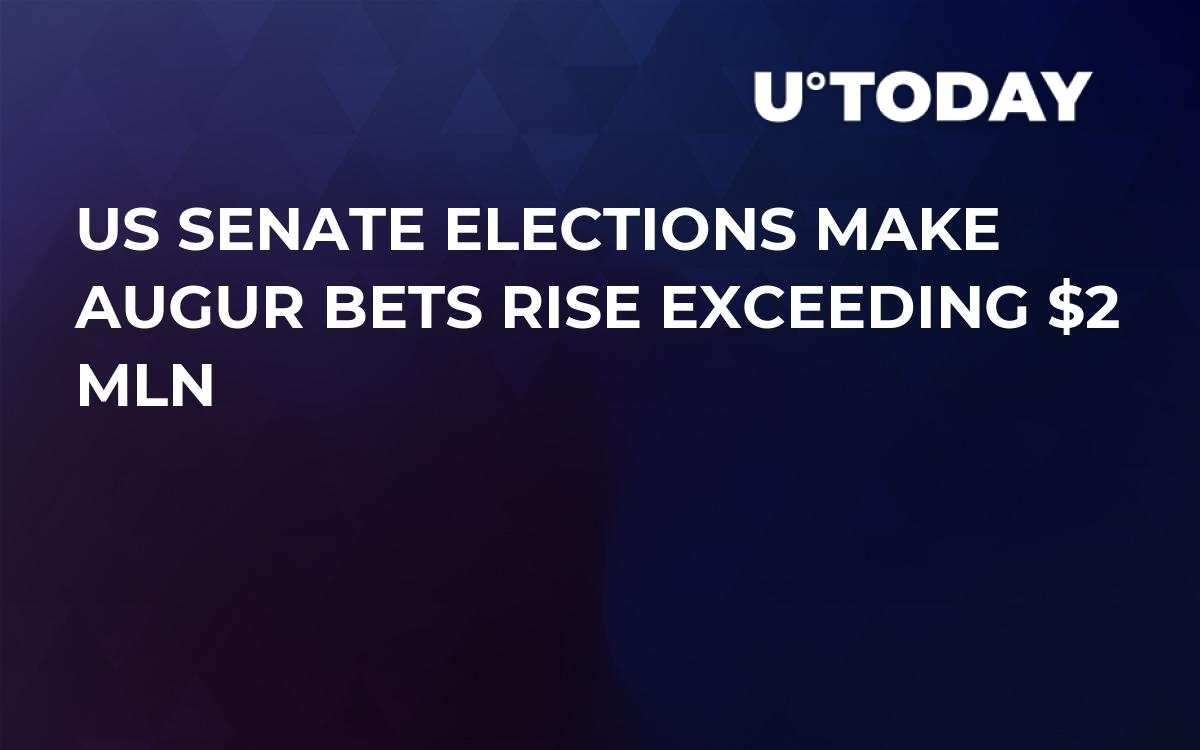 US Senate Elections Make Augur Bets Rise Exceeding $2 Mln