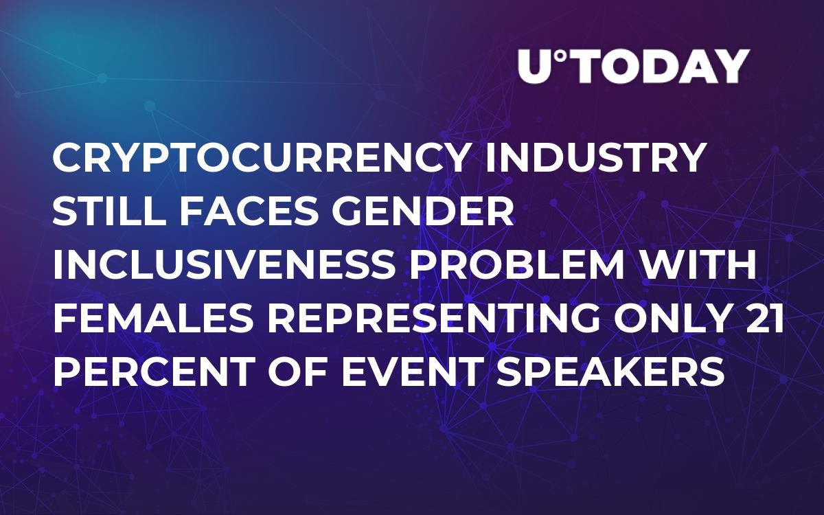 Cryptocurrency Industry Still Faces Gender Inclusiveness Problem With Females Representing Only 21 Percent of Event Speakers