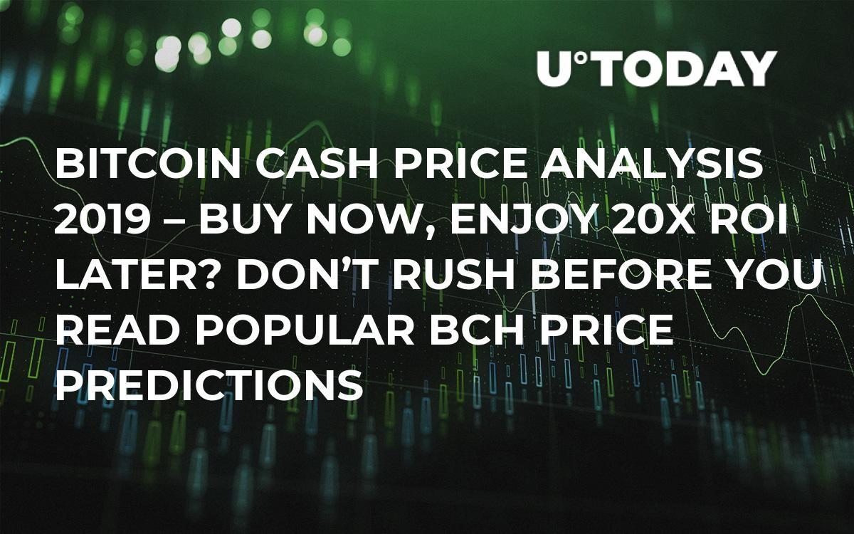 Bitcoin Cash Price Analysis 2019 – Buy Now, Enjoy 20x ROI