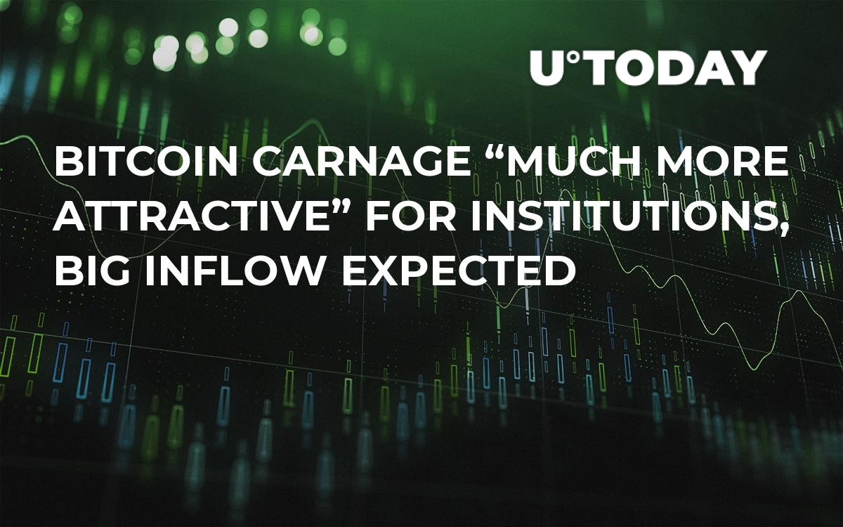 """Bitcoin Carnage """"Much More Attractive"""" for Institutions, Big Inflow Expected"""