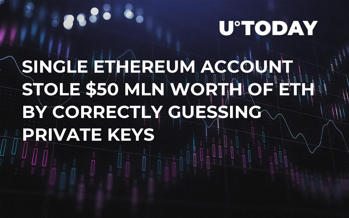 Single Ethereum Account Stole $50 Mln Worth of ETH by Correctly