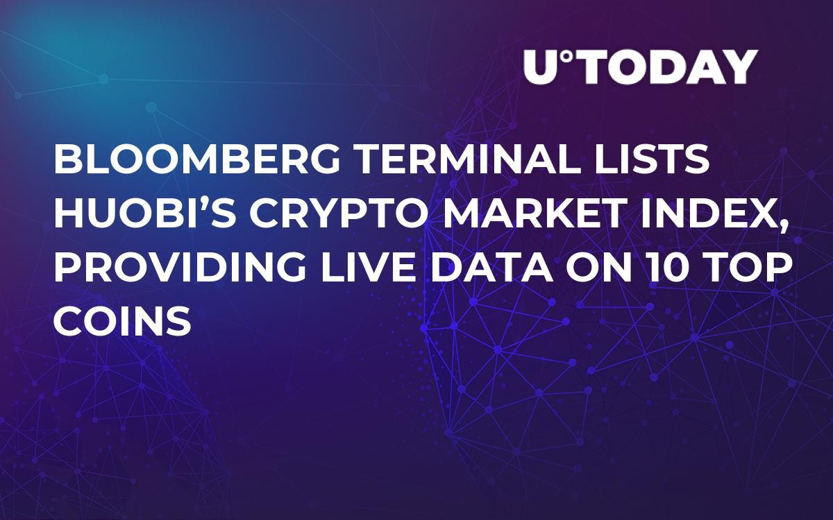 Bloomberg Terminal Lists Huobi's Crypto Market Index, Providing Live Data on 10 Top Coins