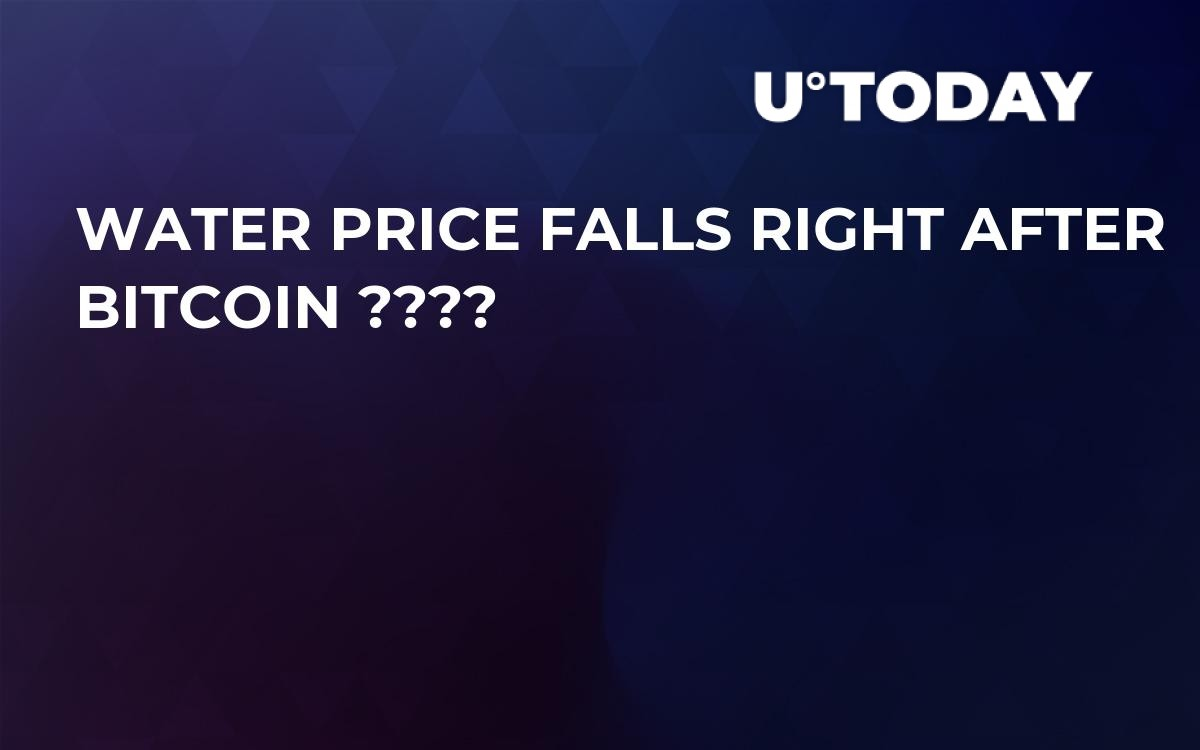 Water Price Falls Right After Bitcoin ????