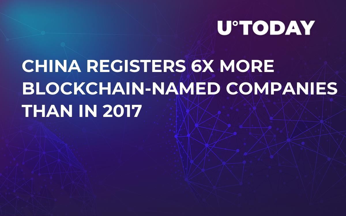 China Registers 6X More Blockchain-Named Companies Than in 2017