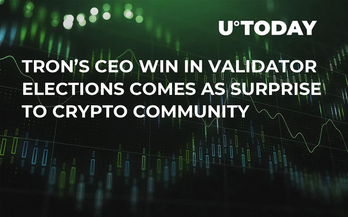 TRON's CEO Win in Validator Elections Comes As Surprise to Crypto Community