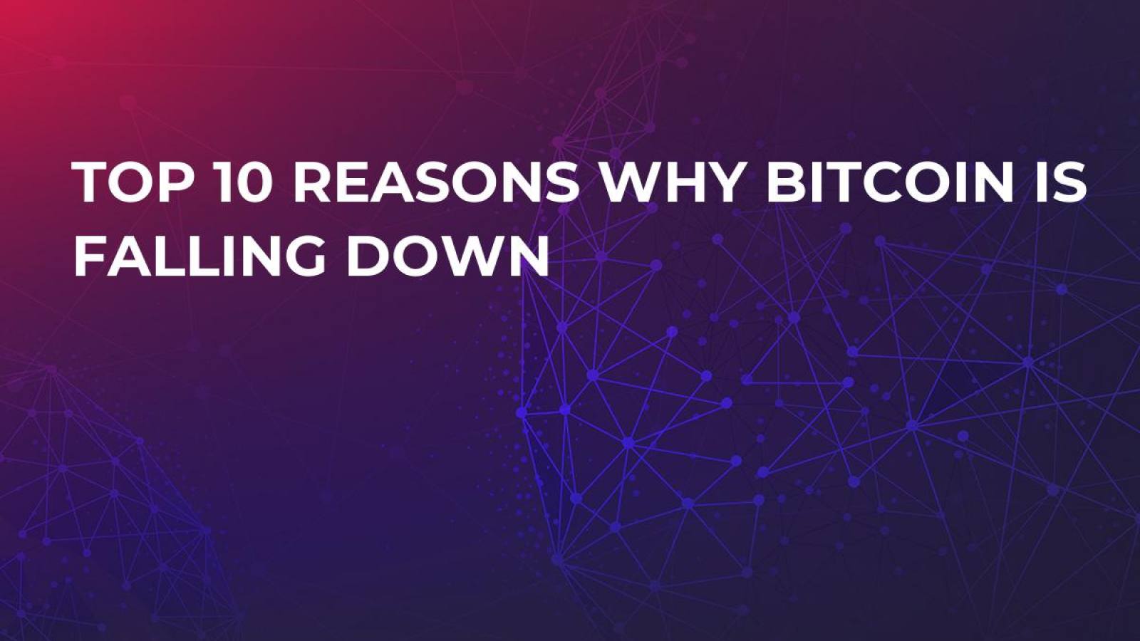 why crypto is going down today