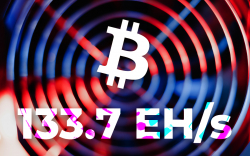 Bitcoin (BTC) Hash Rate Spikes to New All-Time High of 133.7 EH/s