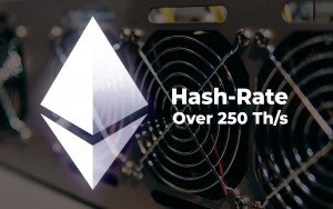 Ethereum (ETH) Hashrate Hits New All-Time High Over 250 Th/s