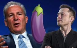 Elon Musk Sends Eggplant Emoji to Peter Schiff About Bitcoin, Here's What It Means