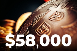 Bitcoin Surges 6%, Touching $58,000