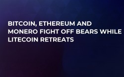Bitcoin, Ethereum and Monero Fight Off Bears While Litecoin Retreats