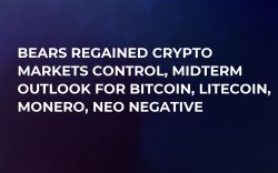 Bears Regained Crypto Markets Control, Midterm Outlook for Bitcoin, Litecoin, Monero, NEO Negative