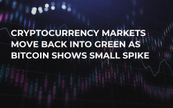 Cryptocurrency Markets Move Back into Green as Bitcoin Shows Small Spike