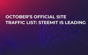 October's Official Site Traffic List: Steemit is Leading