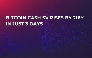 Bitcoin Cash SV Rises by 216% in Just 3 Days
