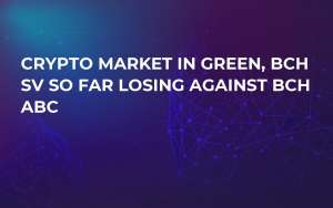 Crypto Market in Green, BCH SV So Far Losing Against BCH ABC