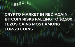 Crypto Market in Red Again, Bitcoin Risks Falling to $2,500, Tezos Gains Most Among Top-20 Coins