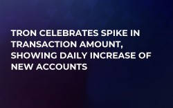 Tron Celebrates Spike in Transaction Amount, Showing Daily Increase of New Accounts