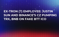 Ex-Tron (?) Employee: Justin Sun and Binance's CZ Pumping TRX, BNB on Fake BTT ICO