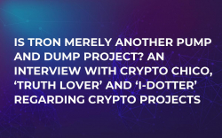 Is Tron Merely Another Pump and Dump Project? An Interview with Crypto Chico, 'Truth Lover' and 'I-Dotter' Regarding Crypto Projects